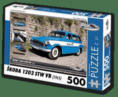 RETRO-AUTA© Puzzle č. 17 - ŠKODA 1202 STW VB (1965) 500 dílků