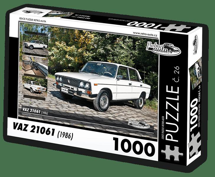 RETRO-AUTA© Puzzle č. 26 - VAZ 21061 (1986) 1000 dílků