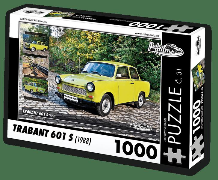 RETRO-AUTA© Puzzle č. 31 - TRABANT 601 S (1988) 1000 dílků