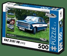 RETRO-AUTA© Puzzle č. 04 - VAZ 2101 VB (1973) 500 dílků