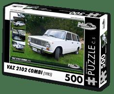 RETRO-AUTA© Puzzle č. 05 - VAZ 2102 COMBI (1985) 500 dílků
