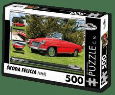 RETRO-AUTA© Puzzle č. 10 - ŠKODA FELICIA (1960) 500 dílků