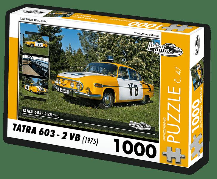 RETRO-AUTA© Puzzle č. 47 - TATRA 603 - 2 VB (1975) 1000 dílků