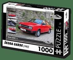 RETRO-AUTA© Puzzle č. 16 - ŠKODA GARDE (1983) 1000 dílků