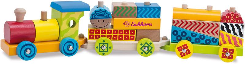 Eichhorn Dřevěný vláček 18 dílů