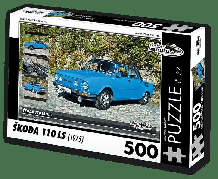 RETRO-AUTA© Puzzle č. 37 - ŠKODA 110 LS (1975) 500 dílků
