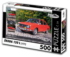 RETRO-AUTA© Puzzle č. 24 - ŠKODA 120 L (1979) 500 dílků