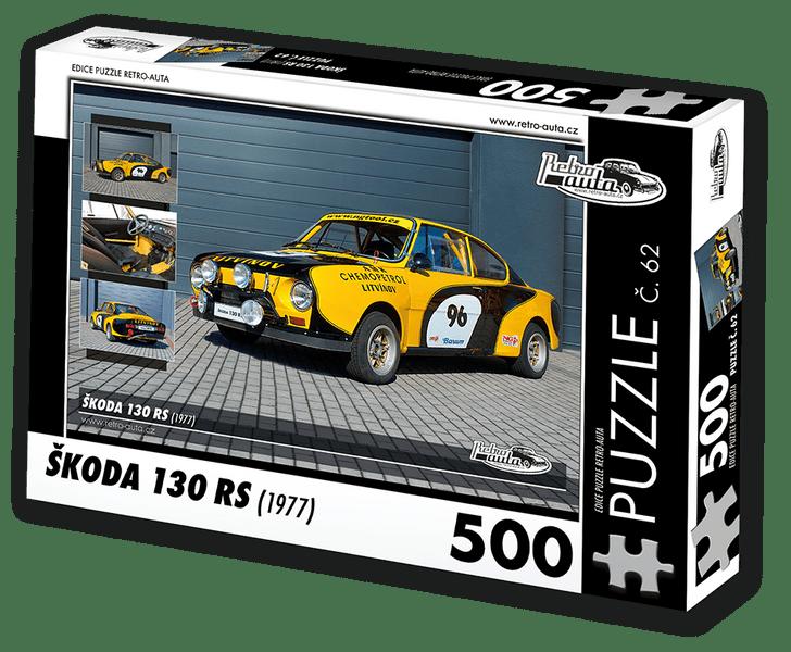 RETRO-AUTA© Puzzle č. 62 - ŠKODA 130 RS (1977) 500 dílků
