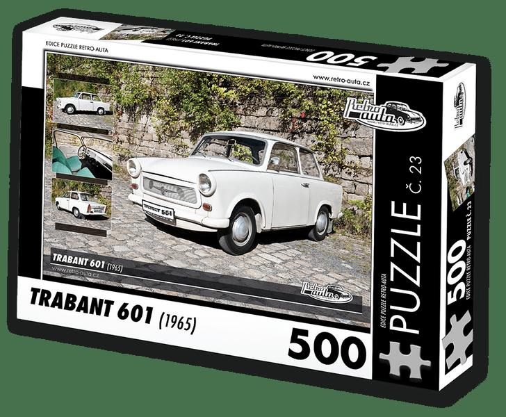 RETRO-AUTA© Puzzle č. 23 - TRABANT 601 (1965) 500 dílků