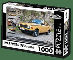 RETRO-AUTA© Puzzle č. 21 - WARTBURG 353 s (1984) 1000 dílků