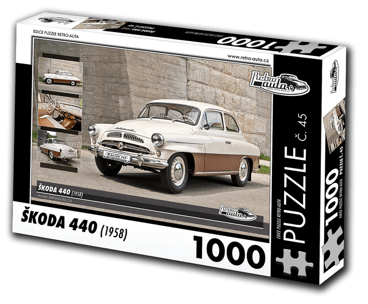 RETRO-AUTA© Puzzle č. 45 - ŠKODA 440 (1958) 1000 dílků