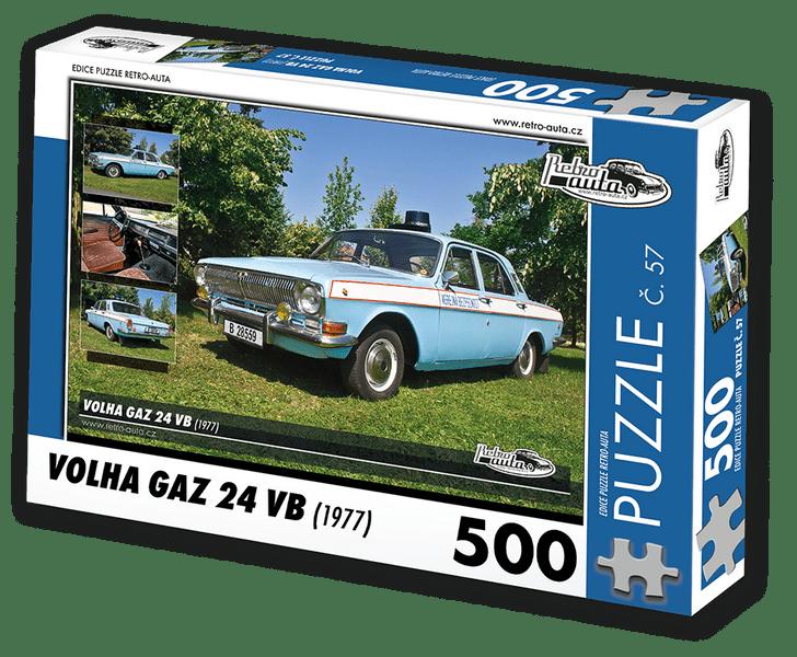 RETRO-AUTA© Puzzle č. 57 - VOLHA GAZ 24 VB (1977) 500 dílků