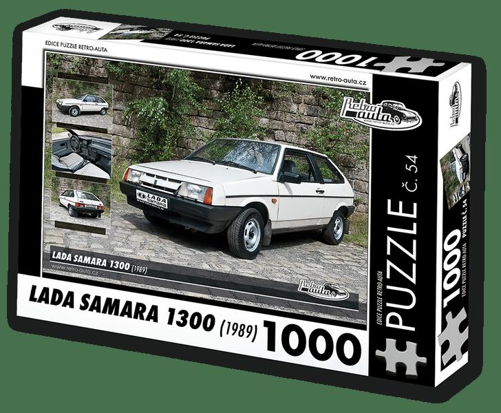 RETRO-AUTA© Puzzle č. 54 - LADA SAMARA 1300 (1989) 1000 dílků