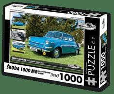 RETRO-AUTA© Puzzle č. 07 - ŠKODA 1000 MB (1966) pravostranné řízení 1000 dílků