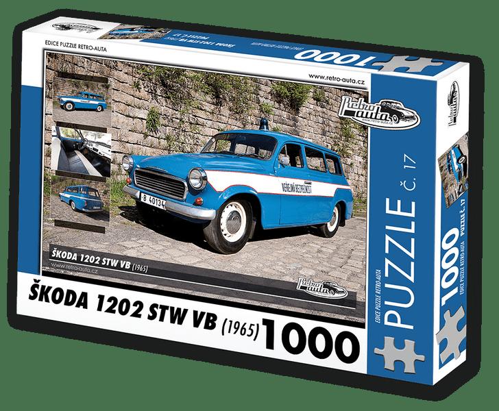 RETRO-AUTA© Puzzle č. 17 - ŠKODA 1202 STW VB (1965) 1000 dílků