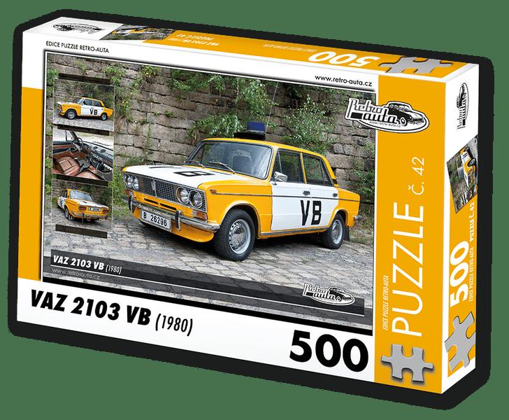 RETRO-AUTA© Puzzle č. 42 - VAZ 2103 VB (1980) 500 dílků