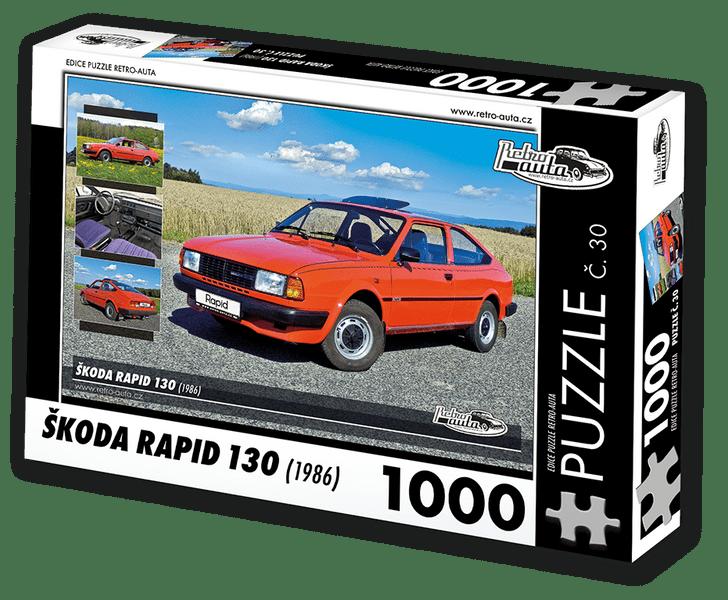 RETRO-AUTA© Puzzle č. 30 - ŠKODA RAPID 130 (1986) 1000 dílků