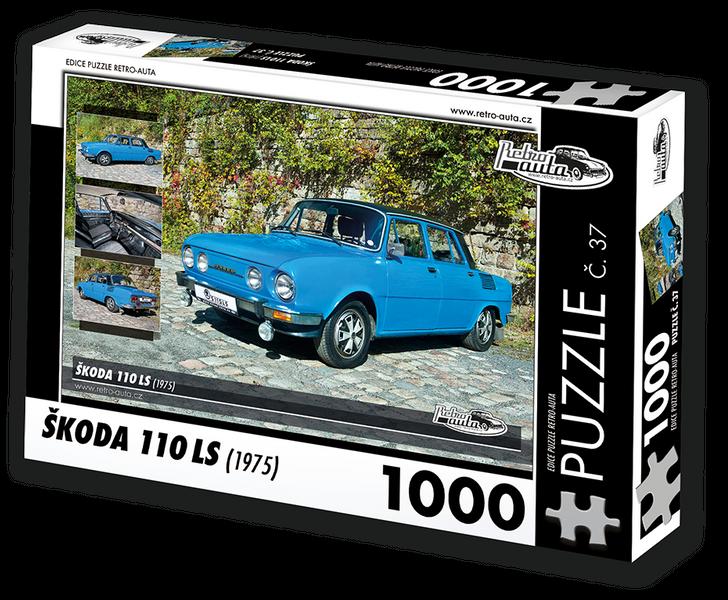 RETRO-AUTA© Puzzle č. 37 - ŠKODA 110LS (1975) 1000 dílků