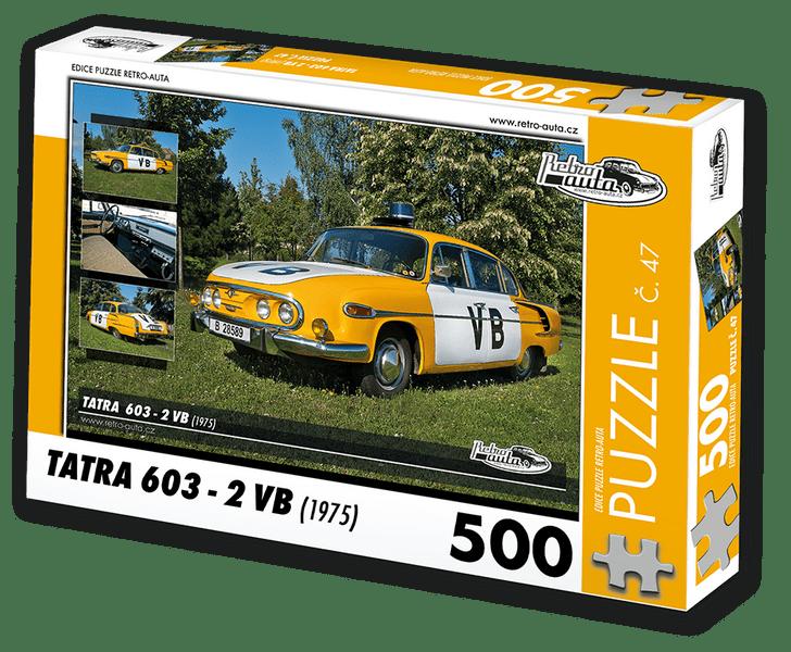 RETRO-AUTA© Puzzle č. 47 - TATRA 603 - 2 VB (1975) 500 dílků