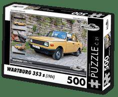 RETRO-AUTA© Puzzle č. 21 - WARTBURG 353 s (1984) 500 dílků