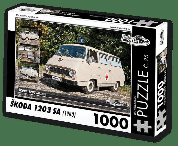 RETRO-AUTA© Puzzle č. 25 - ŠKODA 1203 SA (1980) 1000 dílků