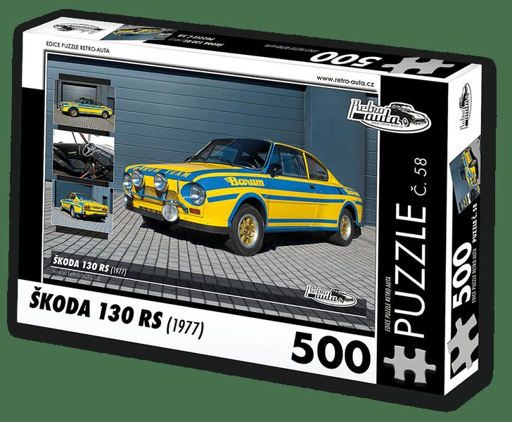RETRO-AUTA© Puzzle č. 58 - ŠKODA 130 RS (1977) 500 dílků