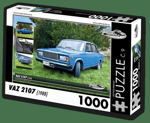 RETRO-AUTA© Puzzle č. 09 - VAZ 2107 (1988) 1000 dílků