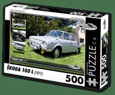 RETRO-AUTA© Puzzle č. 08 - ŠKODA 100 L (1971) 500 dílků