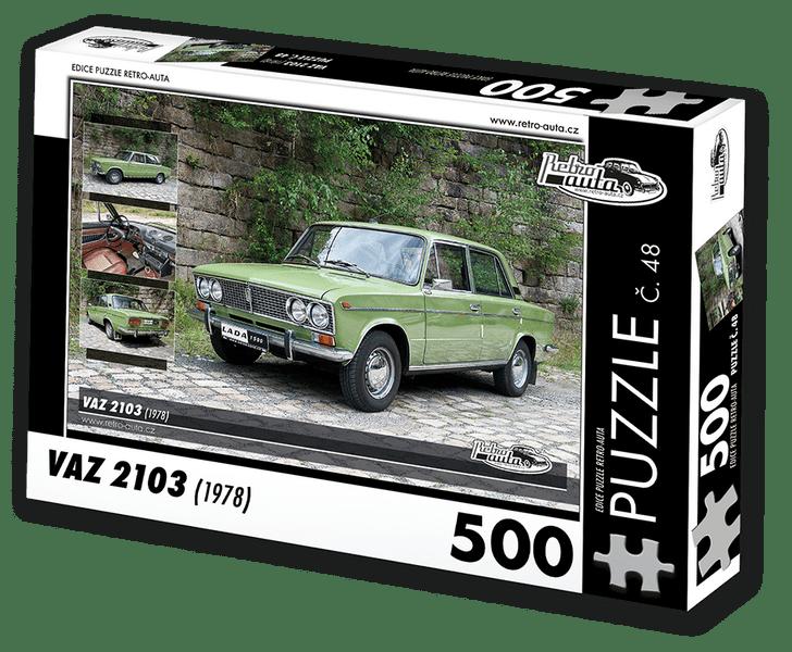 RETRO-AUTA© Puzzle č. 48 - VAZ 2103 (1978) 500 dílků