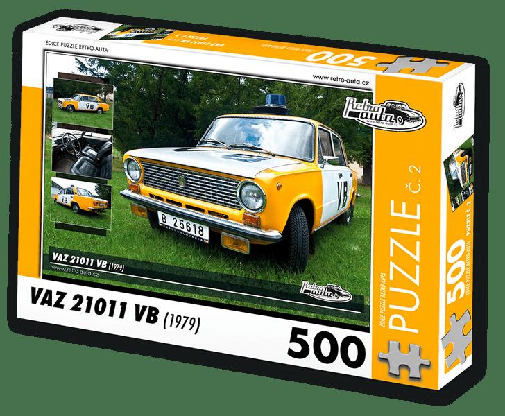 RETRO-AUTA© Puzzle č. 02 - VAZ 21011 VB (1979) 500 dílků