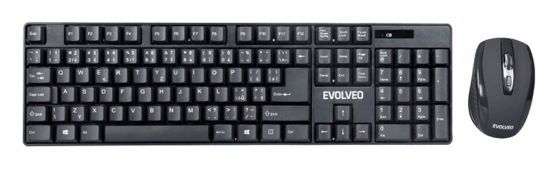 Evolveo WK-142 set bezdrátové klávesnice a myši