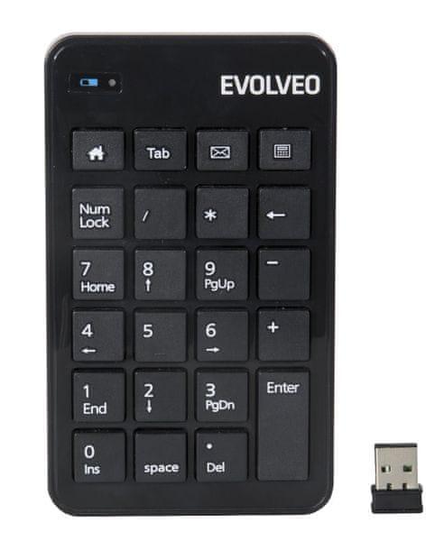 Evolveo Bezdrátová numerická klávesnice WN160 (KLE WN160)