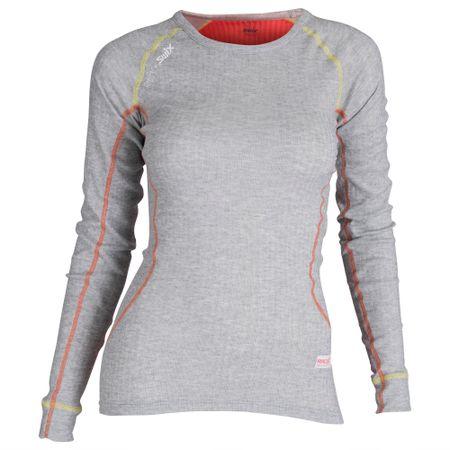 Swix bluzka damska RaceX, szara/pomarańczowa, M