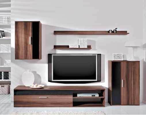Baratto, bytová stěna, švestka/černý lesk