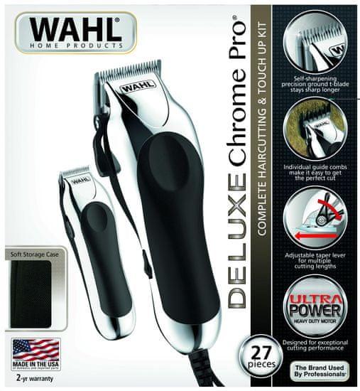 Wahl 79524-2716 Deluxe Chrome Pro Haj- és szakállvágó szett