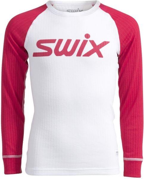 Swix RaceX triko dl.rukáv jr. Bílo-Červené 116/6y