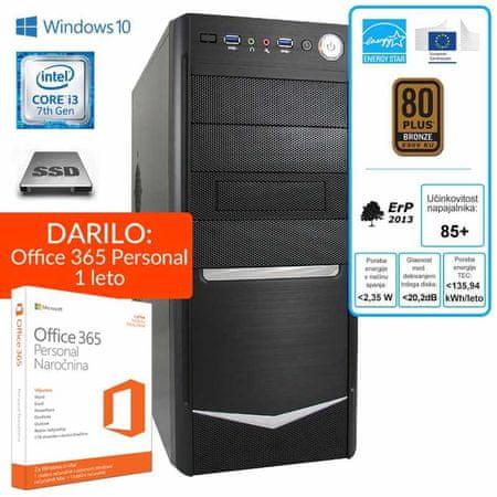 mimovrste=) namizni računalnik Nova i3-7100/8GB/SSD120GB/W10Home + Office 365 Personal (1 leto)