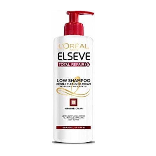 L'Oréal Pečující mycí krém na vlasy Elseve Total Repair 5 (Low Shampoo Gentle Cleansing Cream) 400 ml