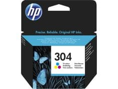 HP kartuša 304, Tri-color, 100 strani (YN9K05AE)