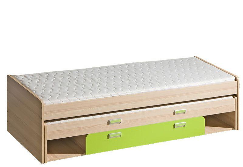 LORENTTO, postel L16, jasan/limetka,včetně matrací