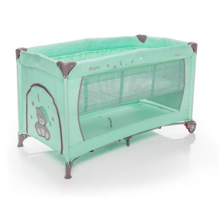 ZOPA prenosna nastavljiva posteljica Nanny na koleščkih, zelena