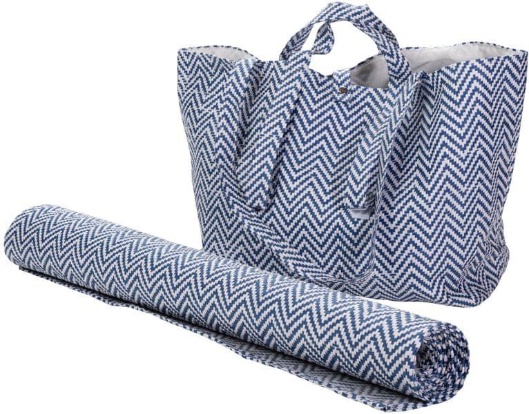Wittkemper Plážová taška s plážovou podložkou, tmavě modrá