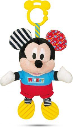 Clementoni pluszowa grzechotka Myszka Miki z dźwiękami i uchwytem