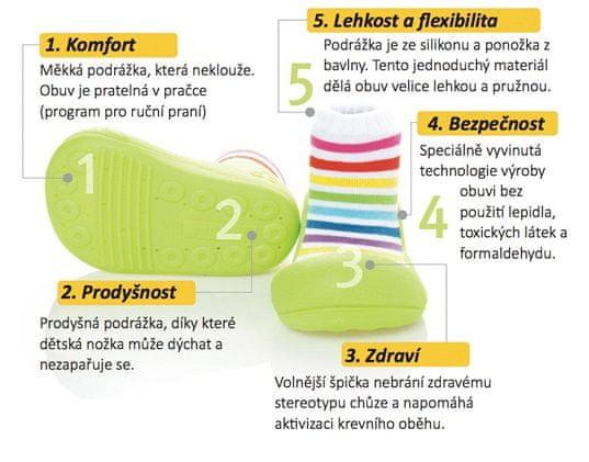 Attipas gyermek cipő Rainbow White