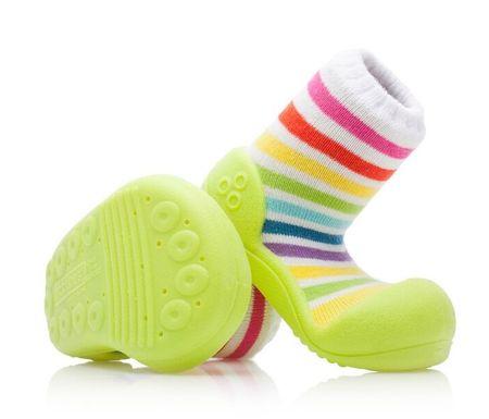 Attipas gyerekcipő Rainbow Green 19 színes