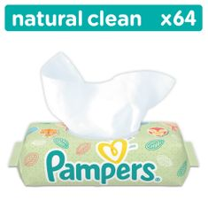 Pampers Törlőkendő Naturally Clean 1x64