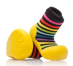 Attipas dětské botičky Rainbow Yellow