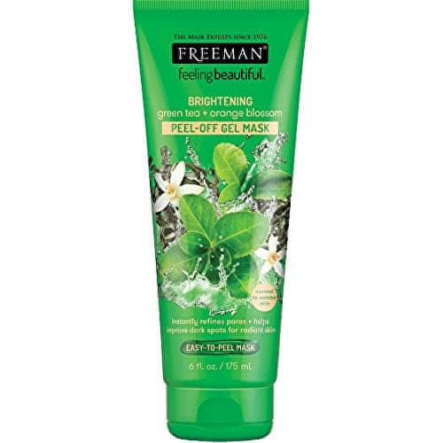 Freeman Slupovací gelová maska Zelený čaj & Pomerančový květ Feeling Beautiful (Peel Off Gel Mask) (Objem 17