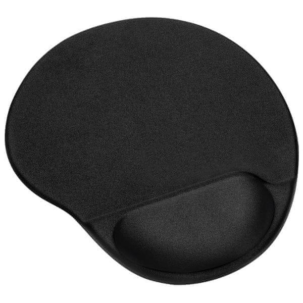 MAX MOP1101B Gelová podložka pod myš, černá