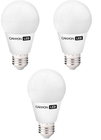 Canyon LED žarnica A60, E27, 9 W, topla svetloba (AE27FR9W230VW), trojno pakiranje